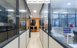 Un menu de visite virtuelle de bureaux