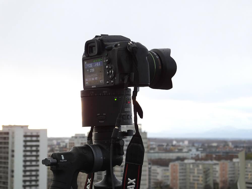 Matériel de visite virtuelle appareil photo sur tête panoramique