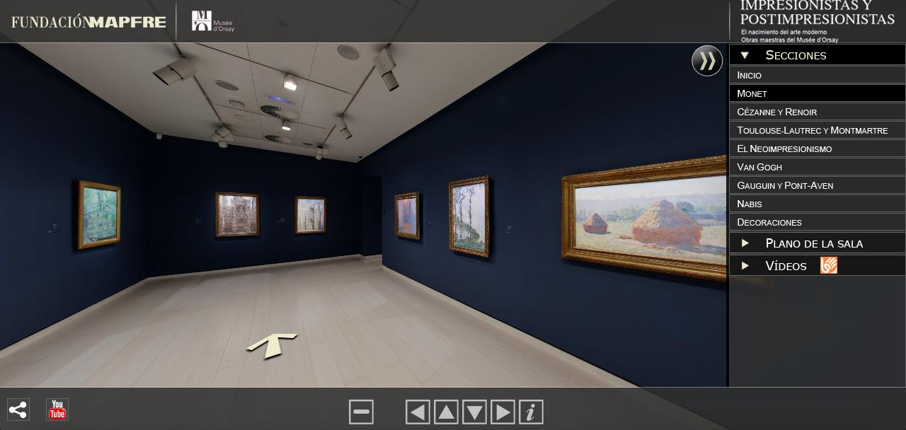Visite virtuelle Impresionistas y postimpresionistas, la fondation Mapfre installée au musée d'Orsay (Paris)