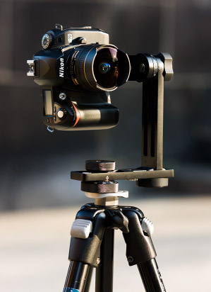 Exemple d'appareil photo sur tête panoramique