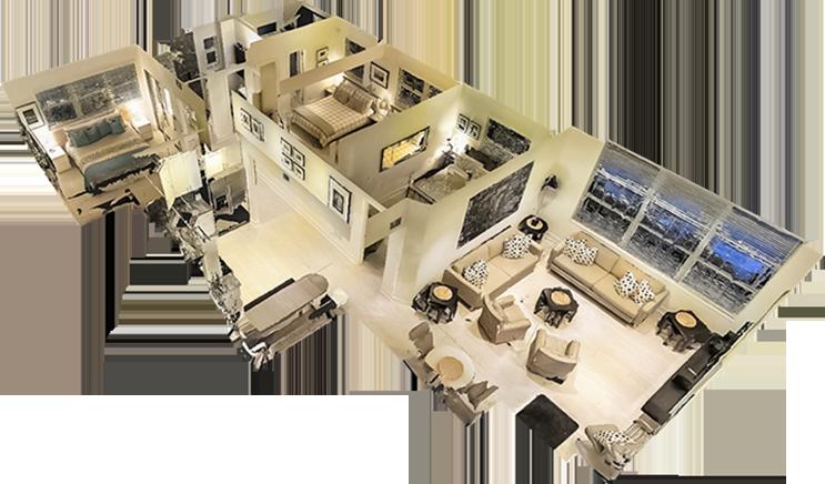 Exemple de rendu maison poupée Matterport