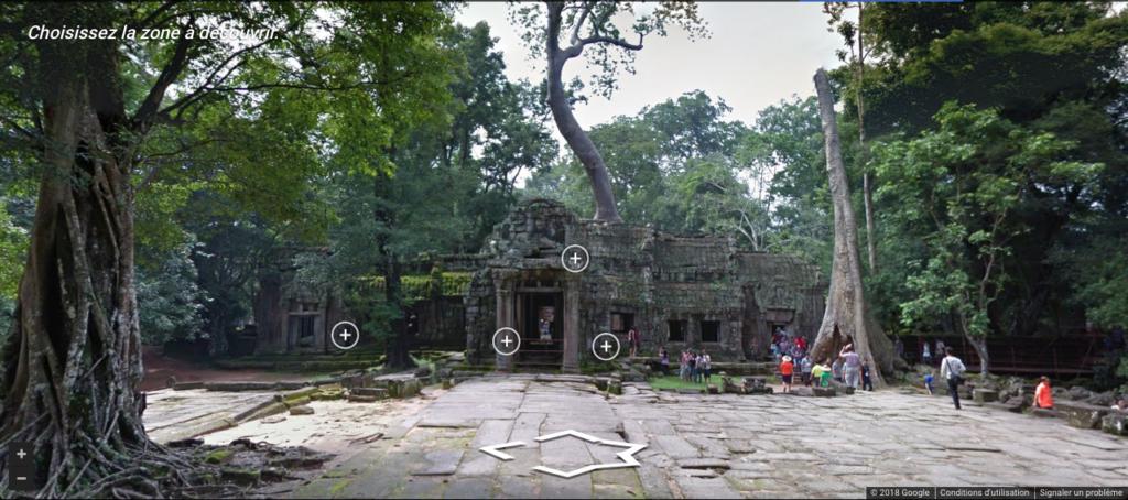 Visite virtuelle du site archéologique d'Angkor au Cambodge