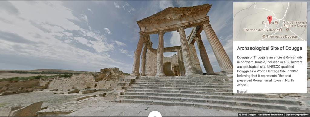 Visite virtuelle du site archéologique de Dougga en Tunisie