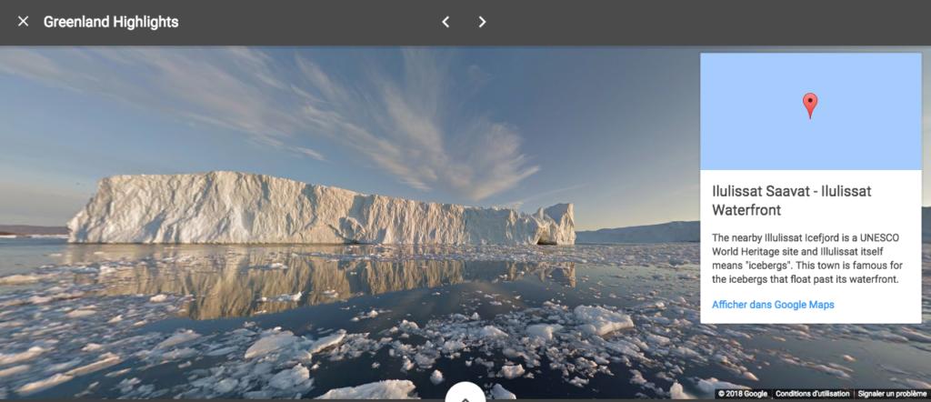 Visite virtuelle Groenland