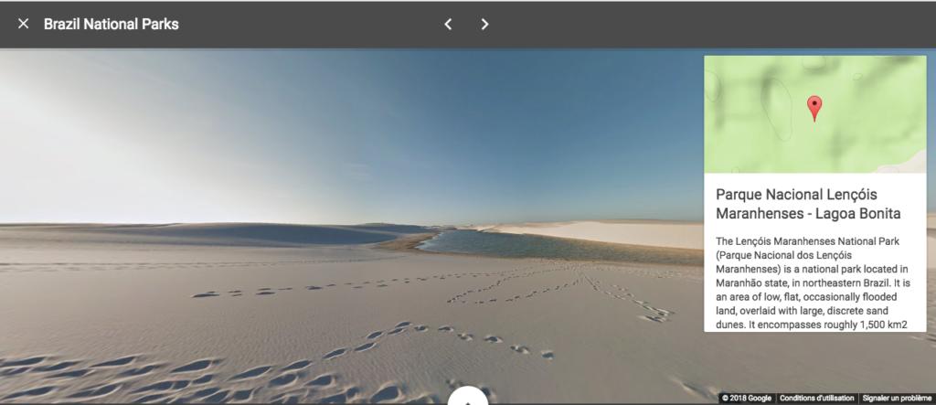 Visite virtuelle parc Brésil